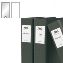 Busta 12 Portaetichette Ppl Adesive Trasparenti 25X75Mm 10310S 3L
