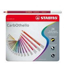 Astuccio Metallo 24 Colori Matite Carboncino Carbothello
