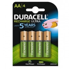 Blister 4 Pile Ricaricabili Aa - Stilo 2500Mah Duracell Precharged