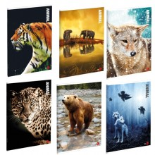 Maxiquaderno A4 40Fg+2 80Gr 4Mm Animal 2019 Bm (conf.10)