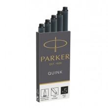 Scatola 5 Cartucce Parker Quink Nero Permanente
