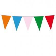 Festone bandiere Multicolor lungh.10mt Big Party