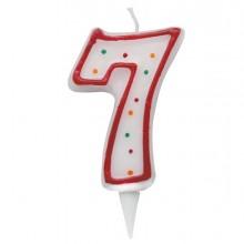 Candelina Zuccherino Numero 7 - H. 8.5Cm Big Party
