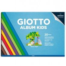 Album Kids Carta colorata 2+ f.to A4 120gr 20fg Giotto (conf. 5 )