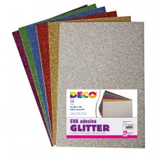 Busta 10 Fogli 20X30Cm Gomma Crepp Glitter Colori Assortiti Cwr