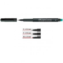 PENNARELLO MULTIMARK NERO 0,4 SUPERFINE FABER-CASTELL (conf. 10 )