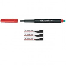 Pennarello Multimark Rosso 0,4 Superfine Faber-Castell (conf.10)