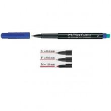 Pennarello Multimark Blu 0,6 Fine Faber-Castell (conf.10)
