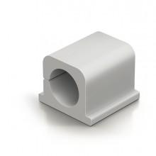 4 Clip Fermacavi Adesivi Per 2 Cavi - Grigio - Durable