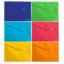 6 Buste In Ppl Con Bottone Colorosa 33X24.5Cm Colori Assortiti Riplast