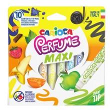 Scatola 10 Pennarelli Perfume Maxi Punta 7Mm Colori Assortiti Carioca