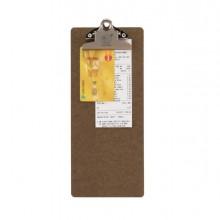 Porta Conto Clip In Legno 27,7X11,4Cm Securit