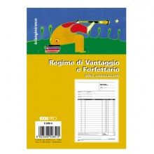 Blocco fattura contribuenti min/forfett. 50x2 fogli autoric. 22X14.8 E5285A (conf. 10 )