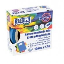 Nastro Adesivo Telato Tpa Blu 200 19Mmx2,7Mt Eurocel