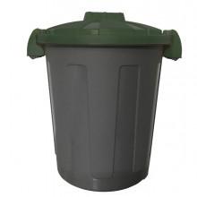 Contenitore Portarifiuti Dusty 25Lt C/Coperchio Verde