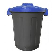 Contenitore Portarifiuti Dusty 25Lt C/Coperchio Blu