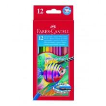 Astuccio 12 Pastelli Colorati Acquerellabili Red Range Faber Castell