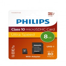 Philips Miro Sdhc Card 8Gb Class 10 Incl. Adapter