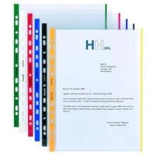 10 Buste Forate 21X29.7Cm C/Banda Colore Blu 01/0165