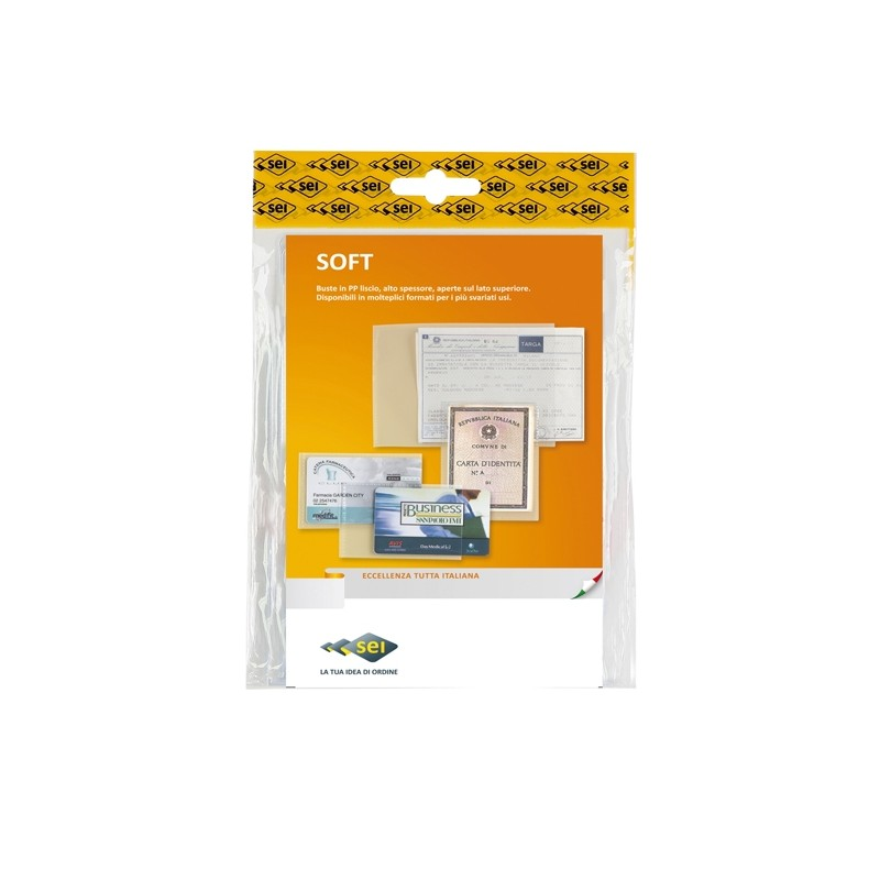 25 Buste A Sacco Pp Soft 230X330Mm Sei Rota