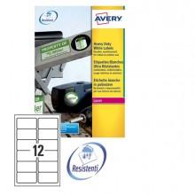 Poliestere Adesivo L4776 Bianco 20Fg A4 99,1X42,3Mm (12Et/Fg) Laser Avery