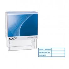 """Timbro Printer 20/L G7 Autoinchiostrante 14X38Mm """"Data Arrivo..."""" Colop"""