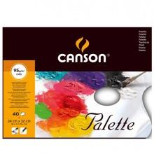 Blocco tavolozza collato 2 lati CANSON 24x32 cm 40 fg. 95 gr. Canson (conf.5)