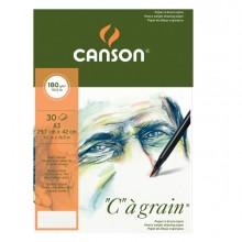"""Blocco collato lato corto """"C"""" A' GRAIN A3 30 fg. 180 gr. Canson (conf.5)"""