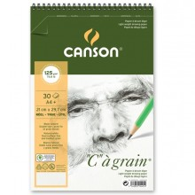 """Album spiralato lato corto """"C"""" A' GRAIN A4+ 30 fg. 125 gr. Canson (conf.10)"""