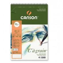 """Album spiralato lato corto """"C"""" A' GRAIN A4+ 30 fg. 180 gr. Canson (conf.10)"""