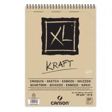 Album spiralato lato corto XL KRAFT A4 60 fg. 90 gr. Canson (conf.5)