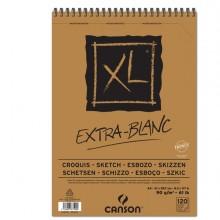 Album spiralato lato corto XL EXTRA WHITE A4 120 fg. 90 gr Canson (conf.5)