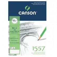 Blocco collato lato corto 1557 A4 50 fg. 120 gr. Canson (conf.5)