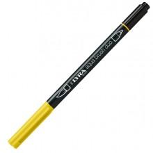 Pennarello a 2 punte AQUA BRUSH DUO giallo cromo chiaro LYRA L6520006 (conf.10)