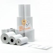 Blister 12 rotoli carta termica 55gr BPA free 57mm x 11mt senza anima x POS