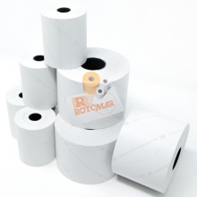 "Blister 10 rotoli bilancia carta termica BPA free ""NVCSF"" 57,5mm x 30mt Ø50mm"