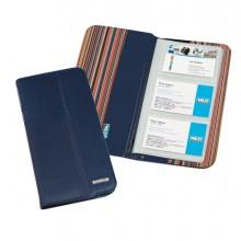 Portabiglietti da visita Professional 12,5x23,5cm blu Niji