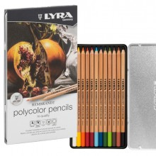 ASTUCCIO METALLO 12 pastelli colorati REMBRANDT POLYCOLOR Lyra