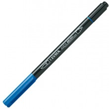 Pennarello a 2 punte AQUA BRUSH DUO blu cobalto chiaro LYRA (conf.10)