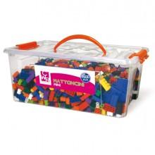 Bauletto 1600 mattoncini da costruzione Micro in colori assortiti CWR