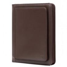 Portablocco Office ecopelle c/zip dim. 26x34cm marrone INTEMPO