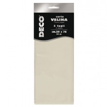 Busta 5 fogli carta velina 20gr 50x76cm avorio CWR
