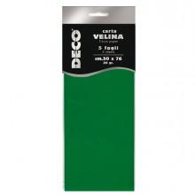 Busta 5 fogli carta velina 20gr 50x76cm verde chiaro CWR