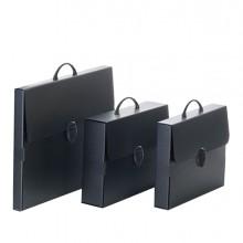 Valigetta polionda Every Line Total Black 27x37,5cm dorso 8cm Balmar