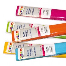 Confezione 10 rotoli carta crespa gr.40 250x50cm colori assortiti CWR
