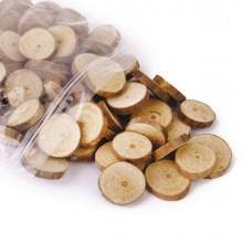 Busta 100pz fettine di legno naturale TT101 CWR