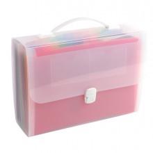 Classificatore valigetta c/maniglia cristallo 33x29 cm - 24 tasche Exacompta