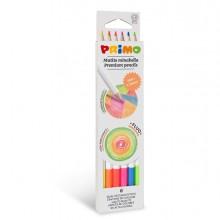 Astuccio 6 matite Minabella diam. 3,8mm colori fluo assortiti PRIMO