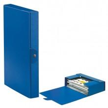 Scatola progetto C24 25x35cm dorso 4 blu ESSELTE (conf. 5 )
