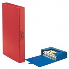Scatola progetto C24 25x35cm dorso 4 rosso ESSELTE (conf. 5 )